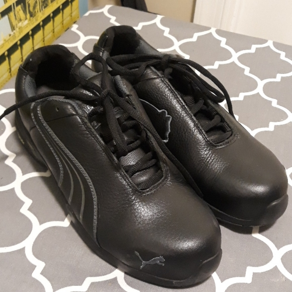 Puma with steel cap work safety shoes sz 39/8